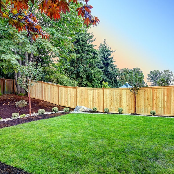 Straders Back Yard Fence with Lawn